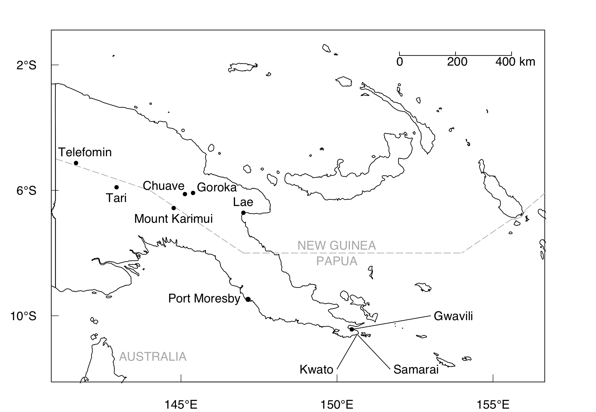 The Territory of Papua and New Guinea, circa 1950